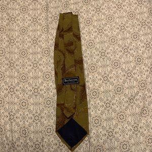 Vintage Burberry's of London Silk Hand Sew Tie